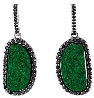 Kimberly McDonald 18K Uvarovite & Diamond Drop Earrings
