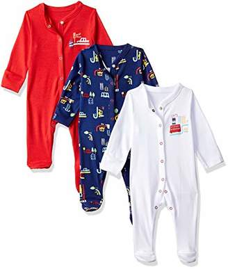 Mothercare Baby Boys 3 Pack BEEP Sleepsuit,(Size: 68)