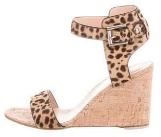 Gianvito Rossi Ponyhair Wedge Sandals