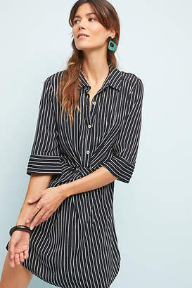 Three Dots Twisted Petite Shirtdress