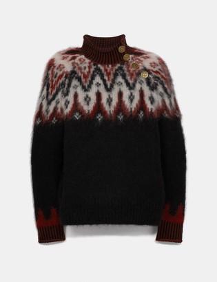 Coach Fair Isle Turtleneck Sweater