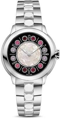 Fendi IShine Rotating Gemstones Watch, 38mm