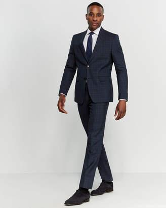 Versace Two-Piece Blue Wool Plaid Suit