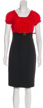 Calvin Klein Short Sleeve Knee-Length Dress