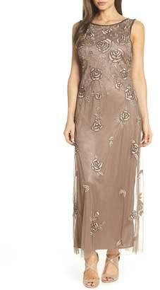 Pisarro Nights Rose Embroidered Long Dress (Regular & Petite)