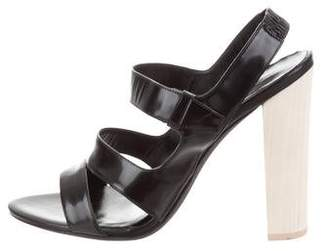 Narciso Rodriguez Leather Ankle Strap Sandals