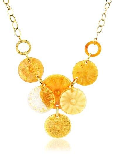 Antica Murrina Velvet - Murano Glass Flower Drop Necklace