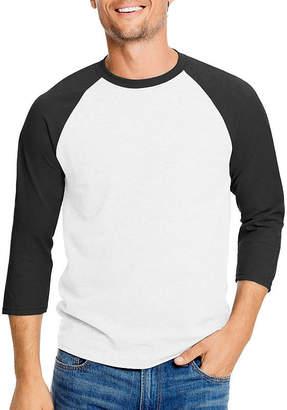 Hanes 3/4 Sleeve Crew Neck T-Shirt