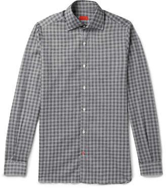 Isaia Checked Cotton Shirt