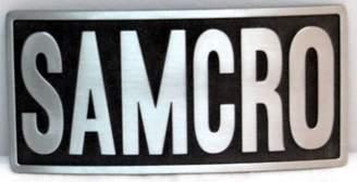 Sons Of Anarchy 100% AUTHENTIC LICENSED METAL BELT BUCKLE 'SOA-SAMCRO-BLACK'- SOA9004BK