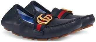 Gucci Kids GG Web loafers