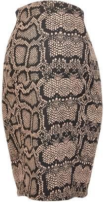 Dorothy Perkins Womens **Maternity Neutral Snake Print Jacquard Skirt