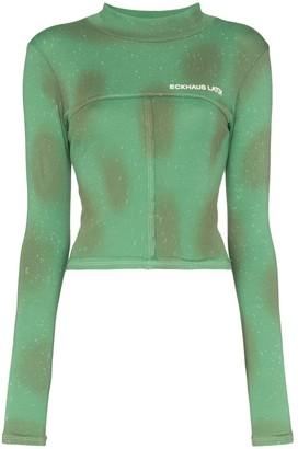 Eckhaus Latta fitted logo jersey top