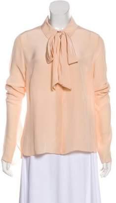 PARTOW Silk Button-Up Blouse