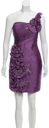 Terani Couture One- Shoulder Embellished Dress w/ Tags