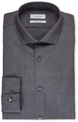 Calvin Klein Charcoal Extreme Slim Fit Solid Dress Shirt
