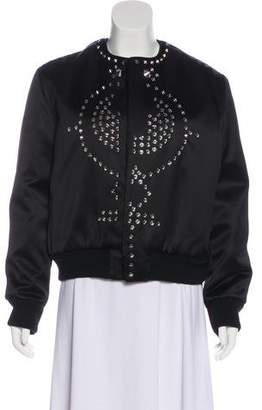 Givenchy Studded Duchesse Bomber Jacket w/ Tags