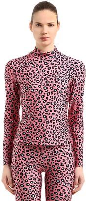 Leopard Printed Stretch Lycra Top