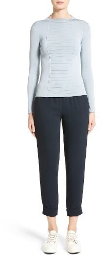 Women's Armani Collezioni Micro Pipe Knit Top