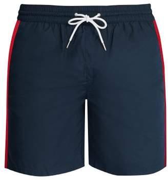 Burberry Logo Side Stripe Swim Shorts - Mens - Navy