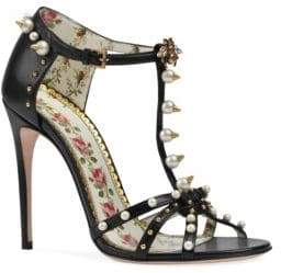 Gucci Leather Sandals With Studs