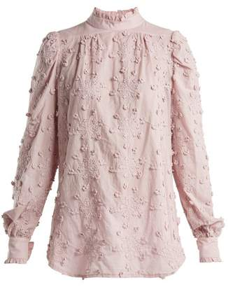 See by Chloe Embroidered Cotton Blouse - Womens - Light Pink