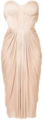 Maria Lucia Hohan gathered pleated design dress