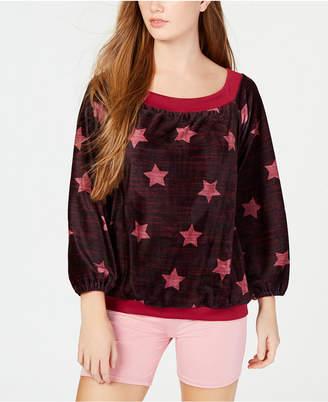 Material Girl Active Juniors' Off-The-Shoulder Sweatshirt