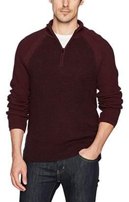 Calvin Klein Jeans Men's Long Sleeve Parallel Fisherman Colorblock 1/4 Zip Sweater