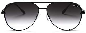 Quay x Desi High Key Aviator Sunglasses, 62mm $65 thestylecure.com