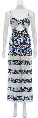 Mara Hoffman Abstract Print Sleeveless Jumpsuit