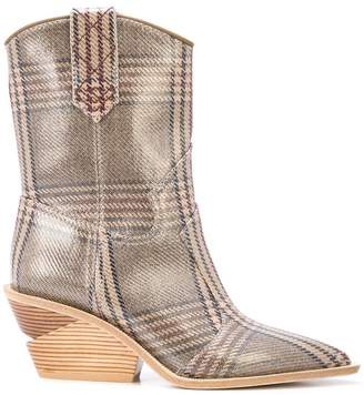 Fendi prince of wales boots