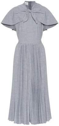 Co Wool-blend pleated midi dress
