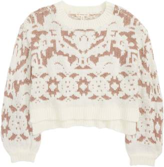 Tucker + Tate Sparkle Crop Jacquard Sweater
