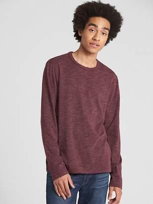 Gap Long Sleeve Marled Classic T-Shirt