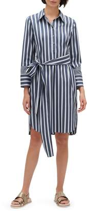 Lafayette 148 New York Fabiola Twilight Stripe Shirtdress