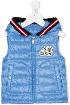 Moncler knitted detail hooded gilet