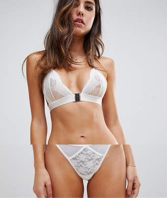 Asos DESIGN strappy mesh & lace thong
