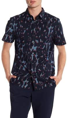 Perry Ellis Camo Short Sleeve Regular Fit Shirt