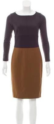 Max Mara Colorblock Knee-Length Dress
