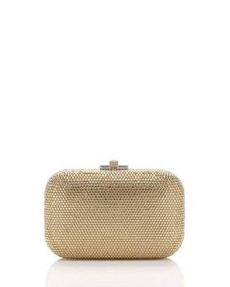 Judith Leiber Couture Crystal Slide-Lock Clutch Bag, Silver/Champagne $1,995 thestylecure.com