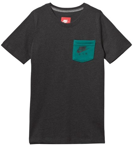 NIKE Black Tee with Branded Chest Pocket
