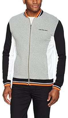 Calvin Klein Jeans Men's Full Zip Athletic Jacket Color Block