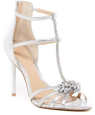 Badgley Mischka Hazel Embellished T-Strap Sandal