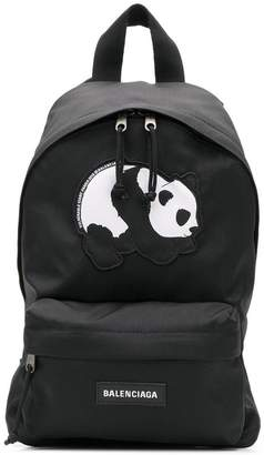 Balenciaga panda print Explorer S backpack