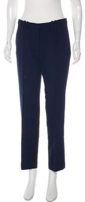 Nellie Partow Crepe Straight-Leg Trousers