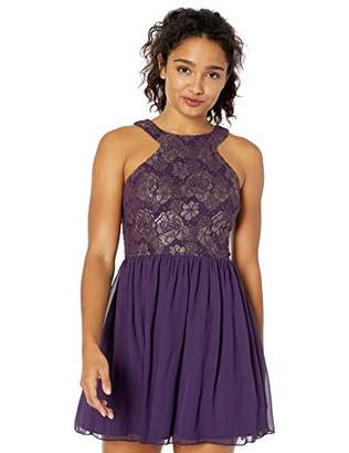 Speechless Junior's Sleeveless Party Dress with Cut Out Back