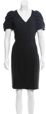 pradaPrada Silk-Trimmed Cocktail Dress