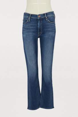 Mother The Dazzler mid-rise cropped slim-fit jeans