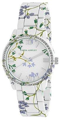 Laura Ashley Women's LA31018B Analog Display Japanese Quartz White Watch $60.44 thestylecure.com